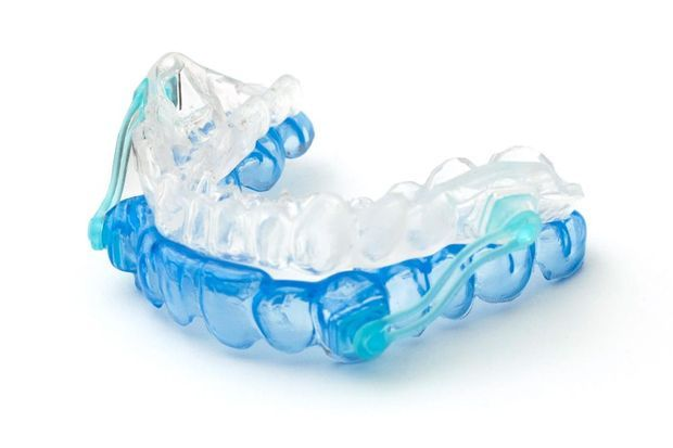 Mouthguard for TMJ disorder.